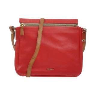99% New!! Furla Red Crossbody / Shoulder Bag