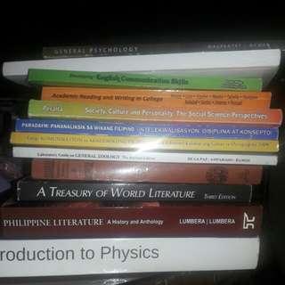 1styr-2ndyr college textbooks