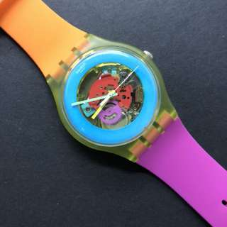 Multicolor Swatch watch