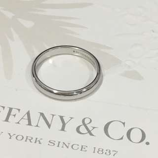 Mint Tiffany & Co Platinum PT950 Lucida Classic Wedding Band Ring #8.25