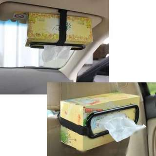 TISSUE PAPER BOX HOLDER AUTO SEAT BACK ACCESSORIES CLIP BRACKET
