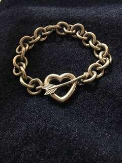 Tiffany & Co 1994 Heart & Arrow Toggle Bracelet 925