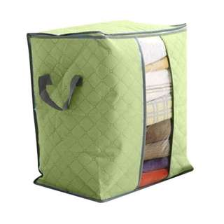 FOLDABLE HOME CLOSET STORAGE BAG ORGANIZER BOX ANTI-BACTERIAL CLOTHES QUILT