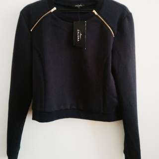 Crop Top / Crop Sweater (Lengan Panjang)