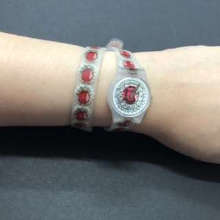 Long strap fashionable watch