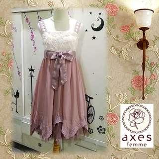 Axes Femme dusty rose dress