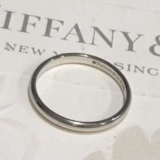 Mint Tiffany & Co. Lucida Platinum Pt950 Classic Wedding Band Ring #4.75