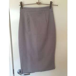 Luvalot Grey Pencil Skirt 6