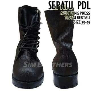 sepatu safety PDL boots tali security polri TNI