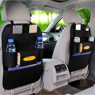 Black Auto Car Seat Back Multi-Pocket Storage Bag Organizer Holder Accessory