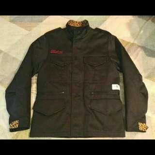 🚚 Skatopia M-65 豹紋軍裝外套 斜紋布 內裡鋪棉
