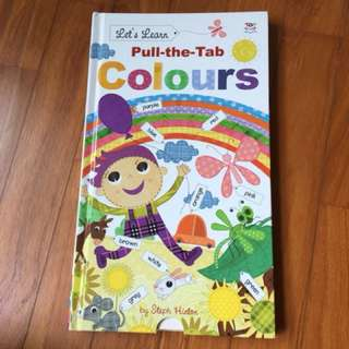 Pull the tab colours book