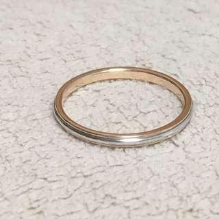 Authentic Tiffany & Co Platinum Pt950 Rose Gold Lucida Classic Band Ring 9.75