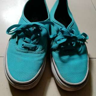 vans turquoise shoes