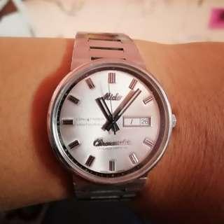 Mido commander chronometer vintage kaca kristal