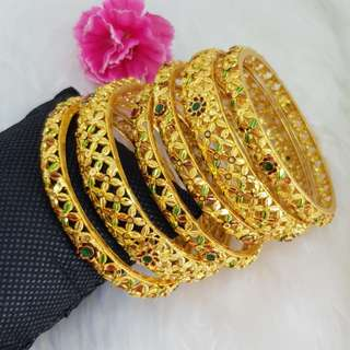 Gold plated Bangle with Enamel