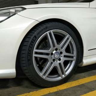 AMG 18inch Wheels with Rubbers
