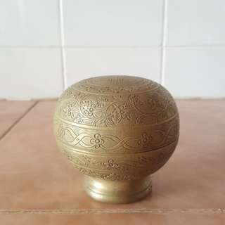 Antique Brass Trinket box