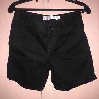Giordano Basic Black Shorts
