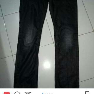 Nudie jeans black coated indigo original