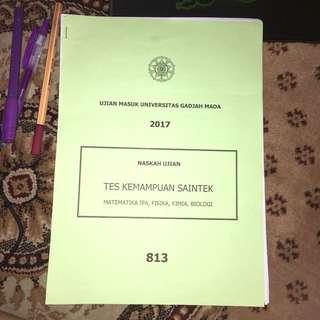 Ujian Masuk Universitas Gadjah Mada 2017 (SAINTEK)