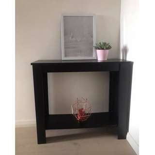 Simple Hall Table in Black