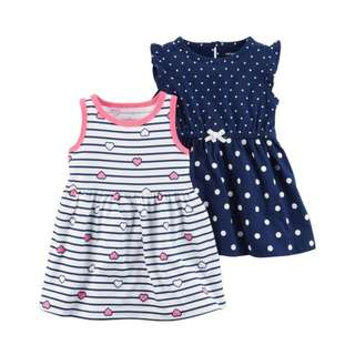 AUTHENTIC CARTER'S 2-Pack Jersey Dresses