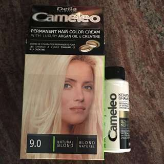 Permanent hair color cream