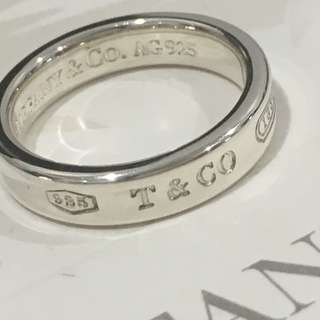 Mint Authentic Tiffany & Co. 1837 Silver Narrow Ring Size 4.75