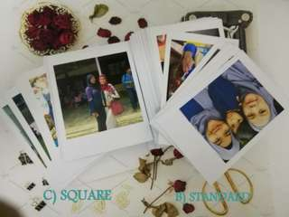 Square and Standard Polaroid Photo Printing