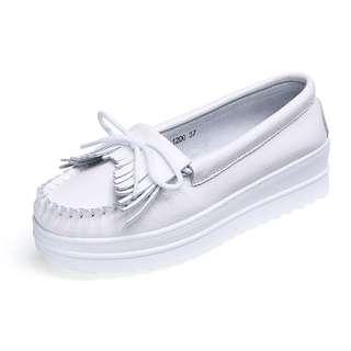 (PO) Platform Wedges White Shoe