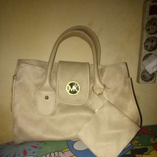 Mk bag white uk 25x30