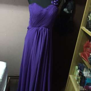 For Rent Purple Long Gown
