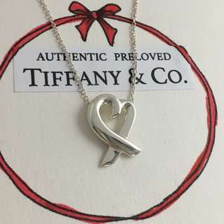 Mint Authentic Tiffany & Co. Paloma Picasso Loving Heart Silver Necklace