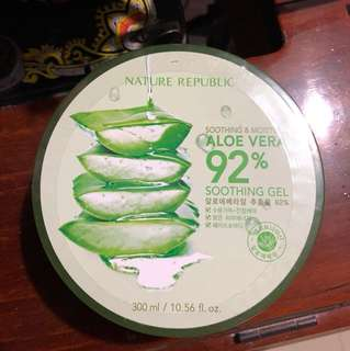 Nature republic aloe vera soothing gel and Soo Beaute aloe Vera soothing gel