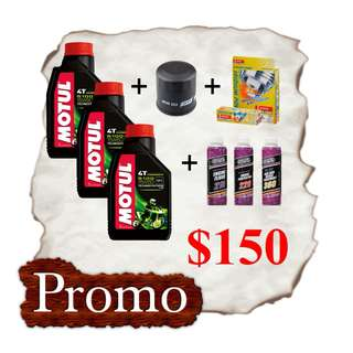 MOTUL 5100 x 3 Bottles Servicing Package