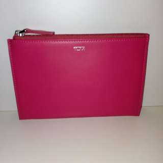 TUMI leather pouch (Pink/桃紅)/皮革袋