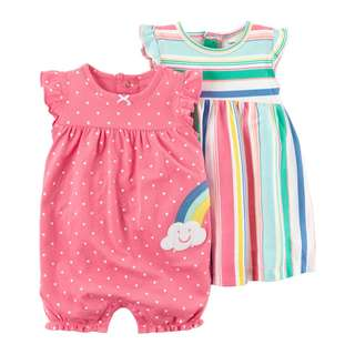 AUTHENTIC CARTER'S 3-Piece Dress & Romper Set