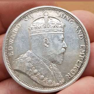 Old coin Strait settlement King Edward vii  $1 1903