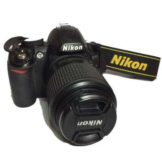 NIKON D3100 DSLR WITH KIT LENS AND 55-200 LENS