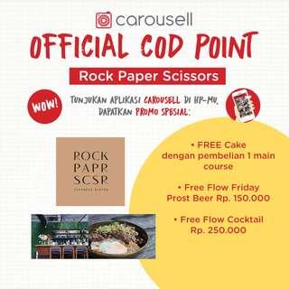 Free Cake @ Rock Paper Scissors