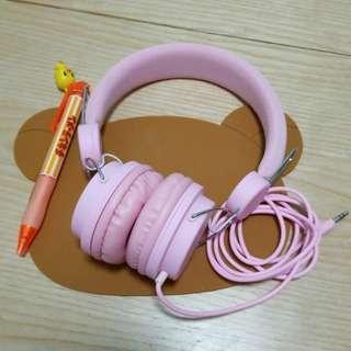 MINISO 粉紅色耳機
