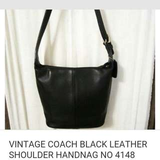 Coach leather sholder bag