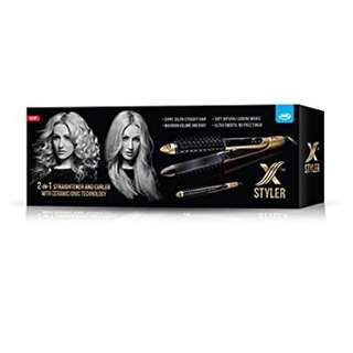 TRAVEL DUAL HAIR STRAIGHTENER & CURLER