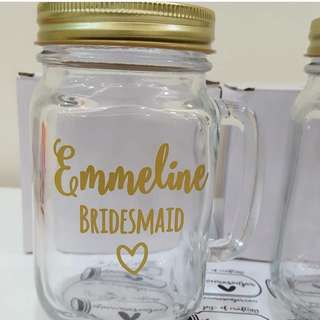 Bridesmaid, Wedding customised gifts
