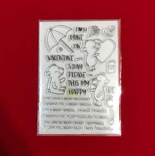 Beary big heart scrapbooking clear stamp
