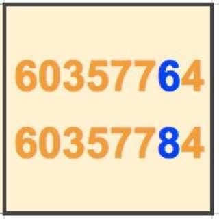 情侶手提電話號碼 60357764 60357784