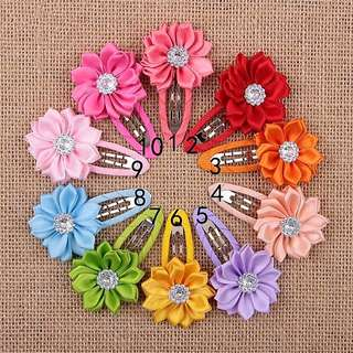 (Incl Postage) 10Pcs Floral Flower Hairclips Hair Accessories Set