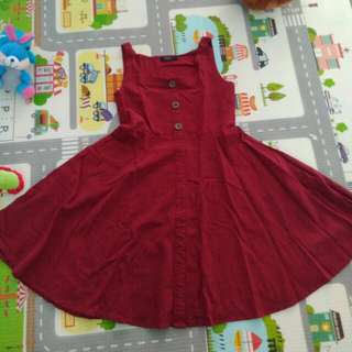 Simplicity red flare dress