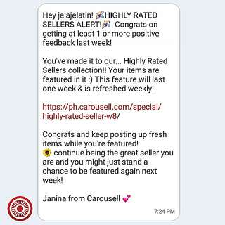 First Time!!! Check This Out☝Thanks #Carousell highly appreciated😍😚